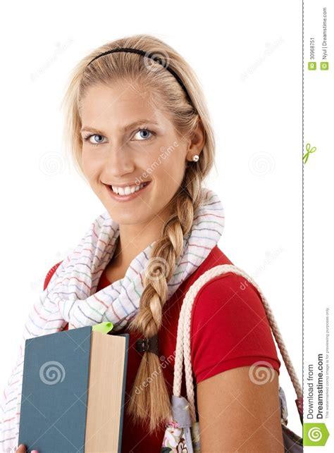 Beautiful College Girl Stock Image Image