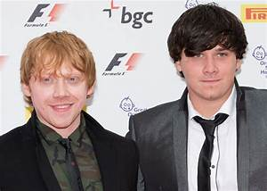 Rupert Grint introduces cute brother, James at F1 party ...