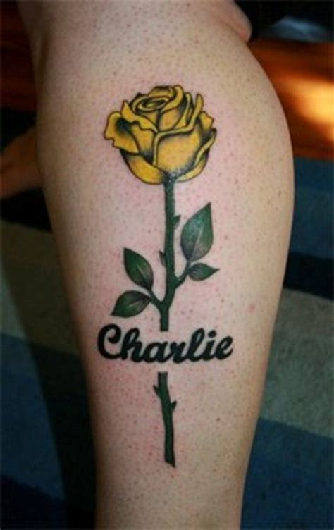 memorial tattoo   gran tattoos yellow rose tattoos