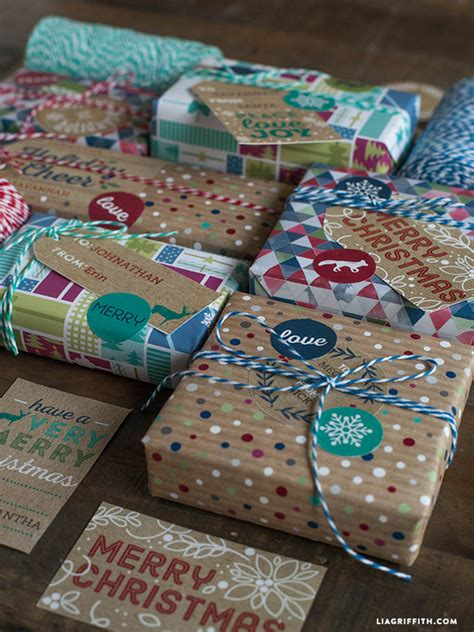 printable rustic kraft holiday gift tags labels