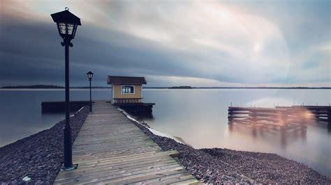lake calm nature beautiful sea water road wallpaper