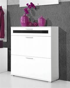 Meuble Entree Blanc : meuble entree laque blanc ~ Teatrodelosmanantiales.com Idées de Décoration