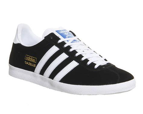 adidas gazel adidas gazelle og black white metallic gold unisex sports