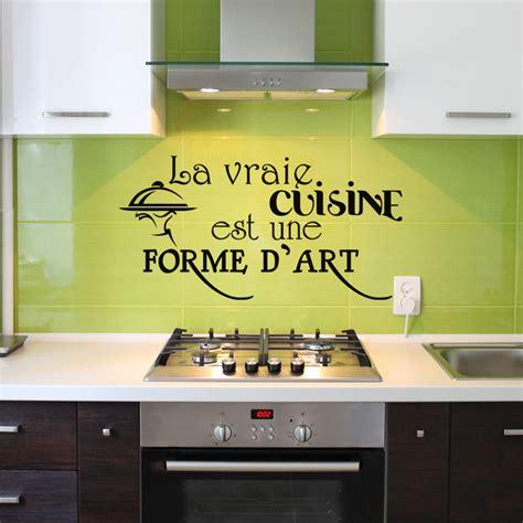 cuisine est sticker la vraie cuisine est une forme d 39 design