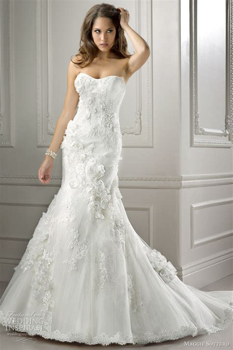 flowing swarovski maggie sottero wedding dresses 2012 symphony collection