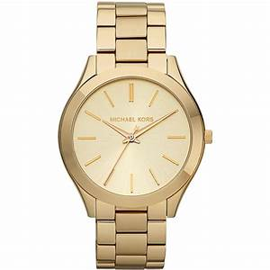 Michael Kors Women's Gold Dial Runway Bracelet Watch ...