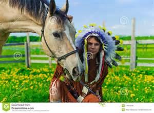 American Indian Horse Girl