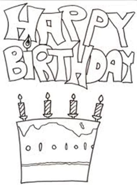 dibujos de happy birthday  pintar colorear imagenes