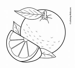 Orange clipart coloring page - Pencil and in color orange ...