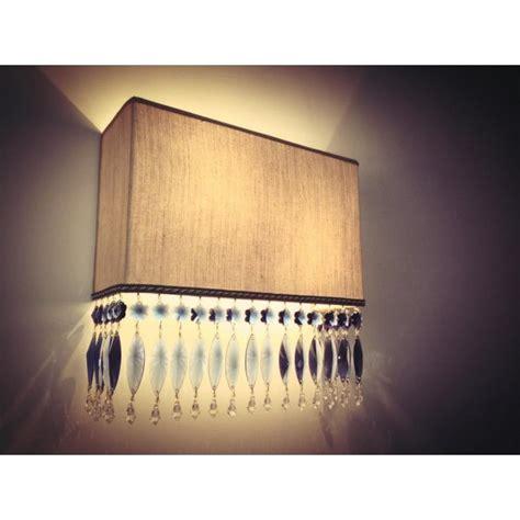 applique swarovski wall sconces with fringe fiorentino creation