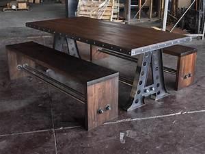 A Frame Dining Table Vintage Industrial Furniture