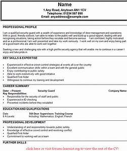 security guard cv example forumslearnistorg With cv template for security guard