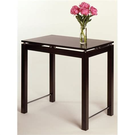 espresso counter height table counter height work dining table in espresso beechwood