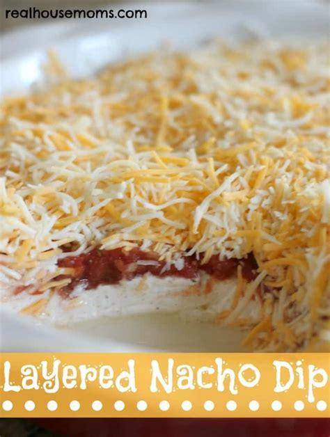 layered dip layered nacho dip