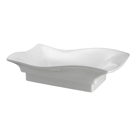 pegasus carusso wave vessel sink  white