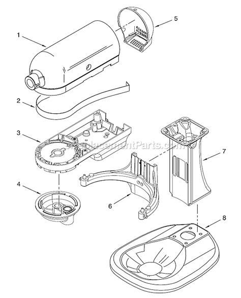 Kitchenaid Ksmpsob Parts List Diagram
