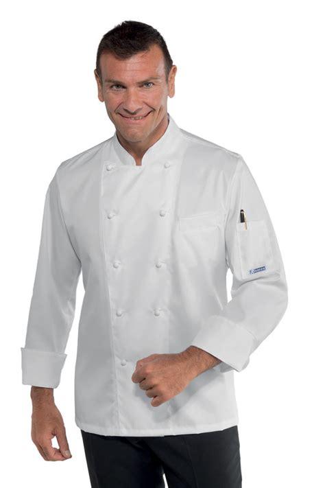 veste de cuisine homme veste cuisine coupe slim pour homme 100 coton sans repassage