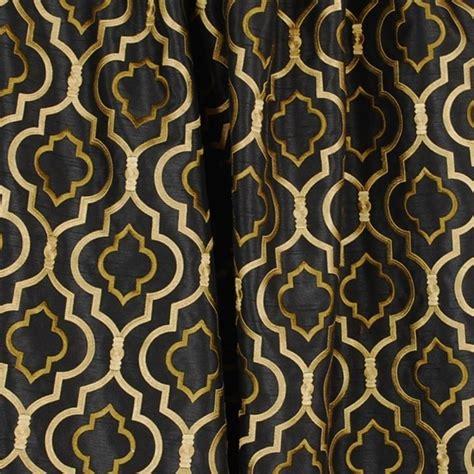 agnes black gold trellis fabric traditional