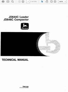 John Deere 644c  U0026 646c Compactor Technical Repair Serv