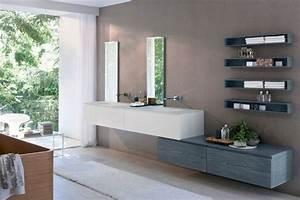 Wandregale Fürs Bad : holz wandregale badezimmer m bel einrichtung waschbeckentisch italienisches design wohnen ~ Markanthonyermac.com Haus und Dekorationen