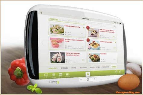 tablette tactile cuisine lancement de la tablette tactile la table spéciale cuisine