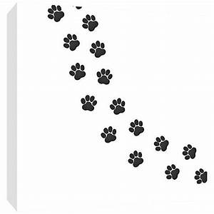 "Trail of Paw Prints 16"" Square Canvas Wall Art - #12N17 ..."