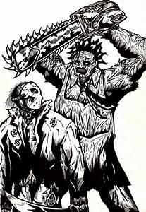 Jason vs Leatherface by Berty-J-A on DeviantArt