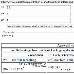 Mögliche Kombinationen Berechnen : kombinatorik von alphanumerischen 4 stelligen codes ~ Themetempest.com Abrechnung