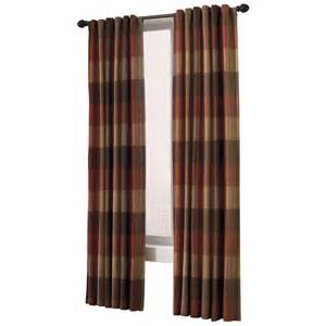 shop allen roth 95 in l rust emilia curtain panel at