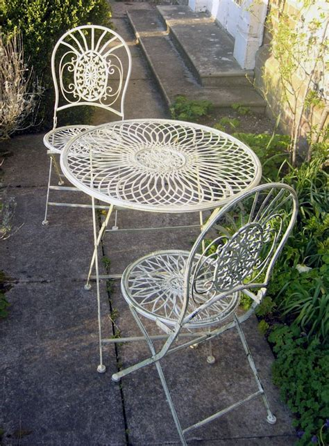shabby chic childrens table and chairs metal shabby chic bistro set garden table and chairs cream