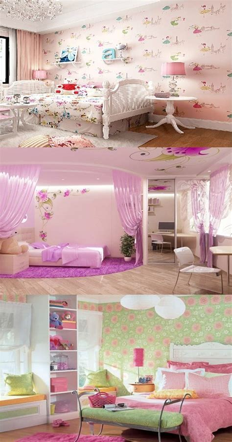 wallpaper border  teenage girls bedroom