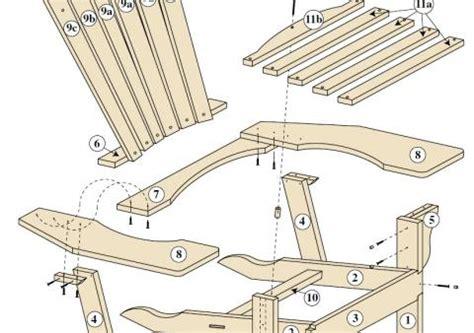 plan chaise de jardin en bois un fauteuil adirondack bois le bouvet