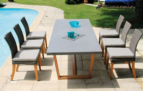 table 6 chaises best avis table de jardin alu fibre de ciment contemporary