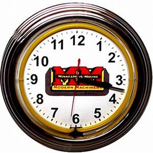 Minneapolis Moline Neon Wall Clocks