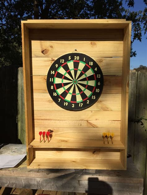 diy outdoor dart board basement man cave cabin