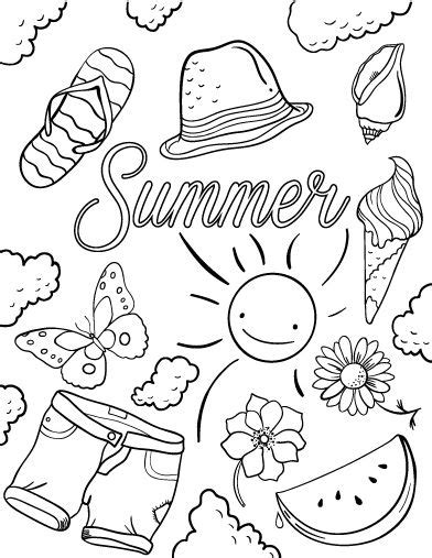 Coloring Pages Pdf Summer