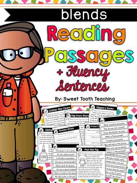 consonant blends reading passages fluency sentences