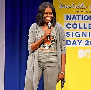 Michelle Obama Gives Students Advice at College Signing