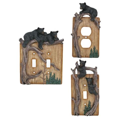 bear lodge switch plate covers cabin place