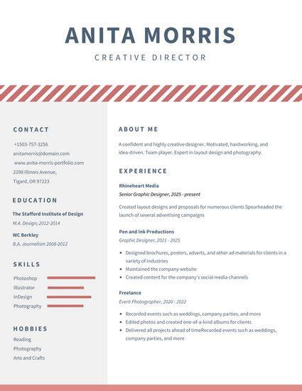 14998 minimal graphic design resume minimalist videographer resume templates by canva