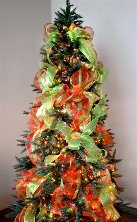 how to decorate a christmas tree with ribbon louisiana