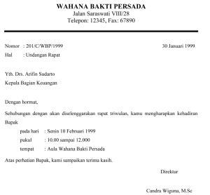 Contoh Surat Undangan Resmi Perusahaan by Contoh Undangan Rapat Dan Pengertian Tujuan Undangan Rapat