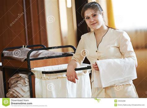 uniforme femme de chambre chambermaid at hotel stock photo image 44645288