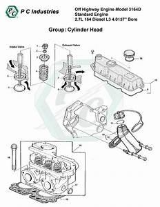 Off Highway Engine Model 3164d Standard Engine 2 7l 164