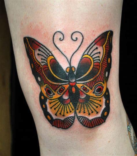 butterfly tattoo  knee