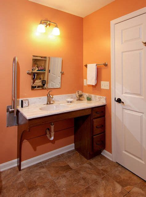Handicapped Bathroom Sinks by W C Accessible Bathroom By Bauscher Construction Of
