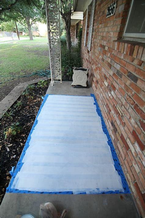 easy painted concrete rug hometalk
