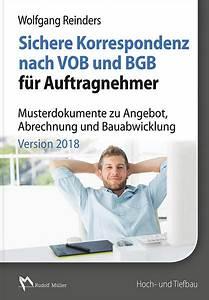 Gewährleistung Nach Vob : sichere korrespondenz nach vob und bgb f r auftragnehmer ~ Frokenaadalensverden.com Haus und Dekorationen
