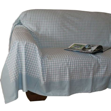 Settee Throws by Gingham Check Large Cotton Sofa Throw Bed Covers