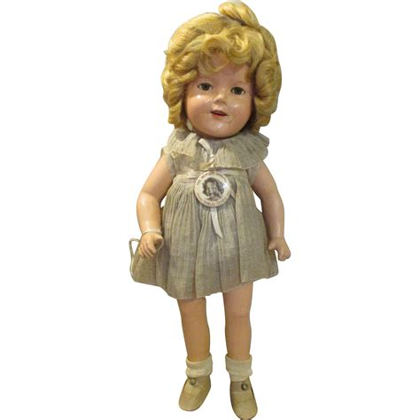 shirley temple doll 1930 s shirley temple doll in original outfit with pin sold on ruby lane